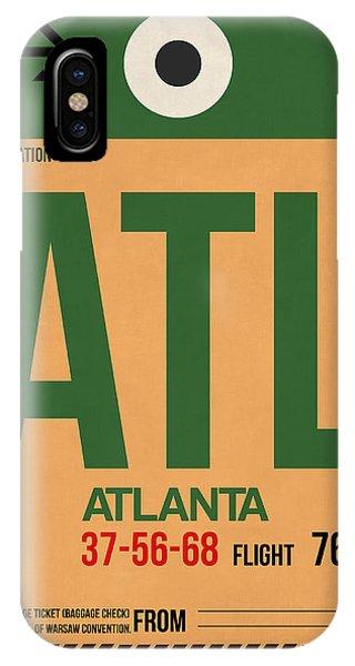 Georgia iPhone Case - Atlanta Airport Poster 1 by Naxart Studio