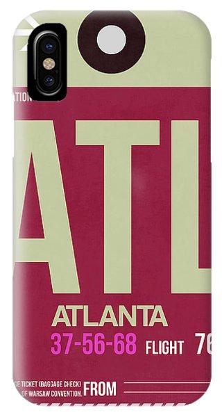 Georgia iPhone Case - Atlanta Airport Poster 2 by Naxart Studio