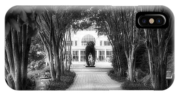 Atlanta Botanical Garden-black And White IPhone Case