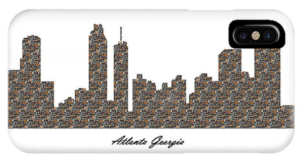 Atlanta Georgia 3d Stone Wall Skyline IPhone Case