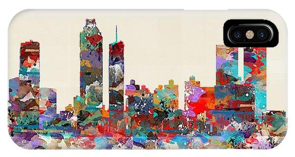Georgia iPhone Case - Atlanta Georgia Skyline Square by Bri Buckley