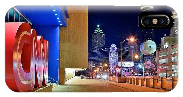 Chicago Skyline Art iPhone Case - Atlanta Outside Cnn by Frozen in Time Fine Art Photography