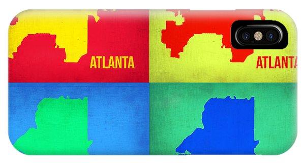 Georgia iPhone Case - Atlanta Pop Art Map 1 by Naxart Studio