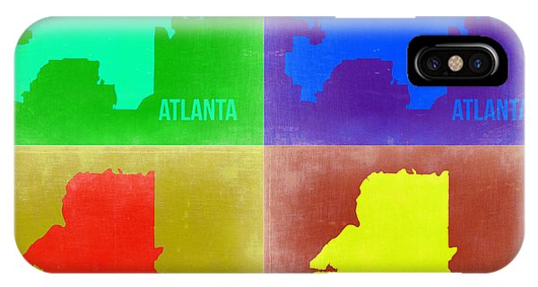 Georgia iPhone Case - Atlanta Pop Art Map 2 by Naxart Studio