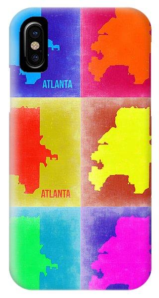 Georgia iPhone Case - Atlanta Pop Art Map 3 by Naxart Studio