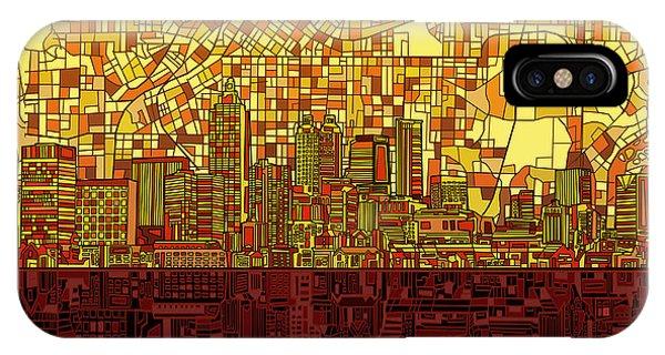 Atlanta Skyline Abstract 3 IPhone Case