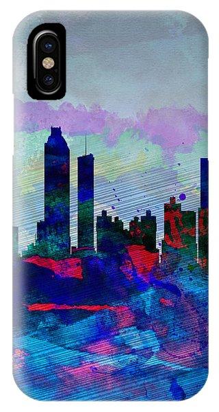 Georgia iPhone Case - Atlanta Watercolor Skyline by Naxart Studio