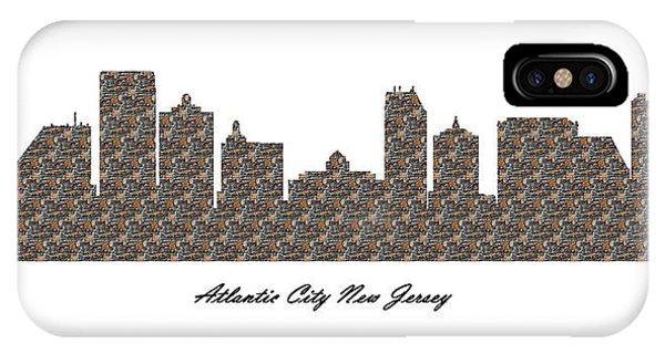 Atlantic City New Jersey 3d Stone Wall Skyline IPhone Case