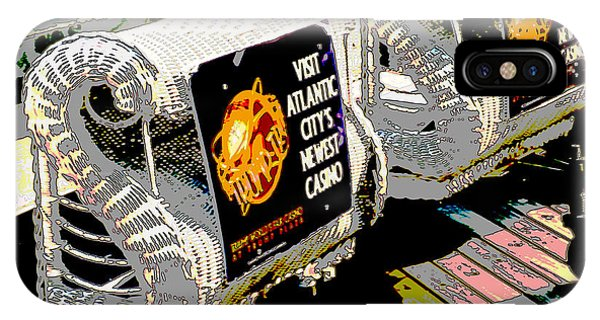 Atlantic City Nostalgia Boardwalk Rolling Chairs IPhone Case