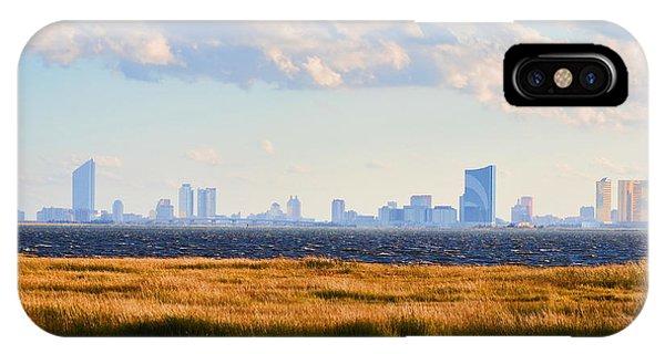 Atlantic City Skyline From Salt Marsh IPhone Case