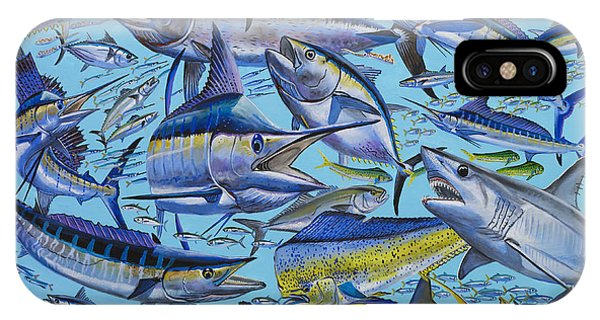Skipjack iPhone Case - Atlantic Gamefish Off008 by Carey Chen