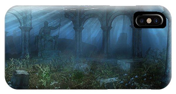 Sea Floor iPhone Case - Atlantis by Cynthia Decker