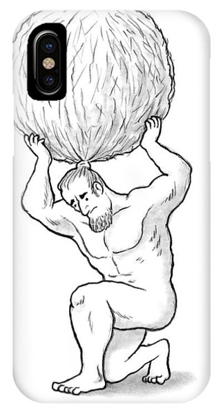 Atlas Holds Up His Hair In A Huge Balled Up Bun IPhone Case