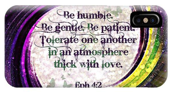 Atmosphere Of Love Ephesians 4 2 IPhone Case