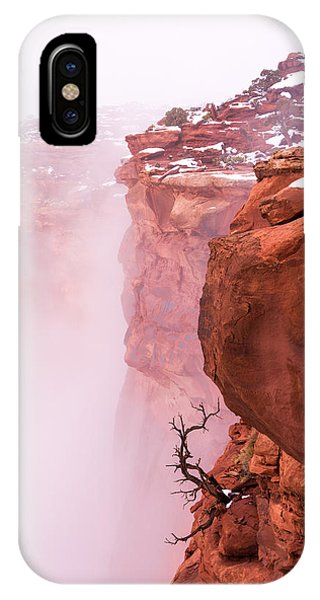 Fog Mist iPhone Case - Atop Canyonlands by Chad Dutson