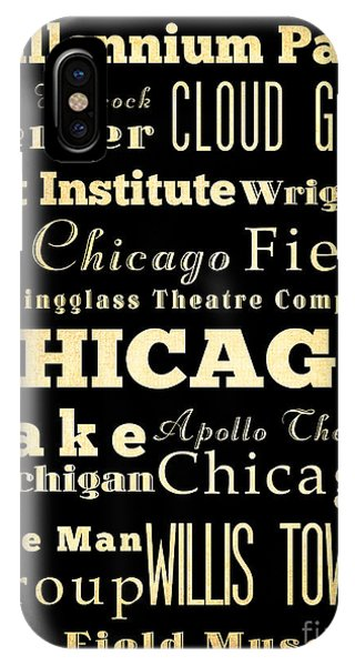 Attractions And Famous Places Of Chicago Illinois IPhone Case