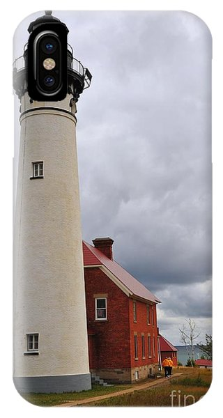 Au Sable Point Light IPhone Case