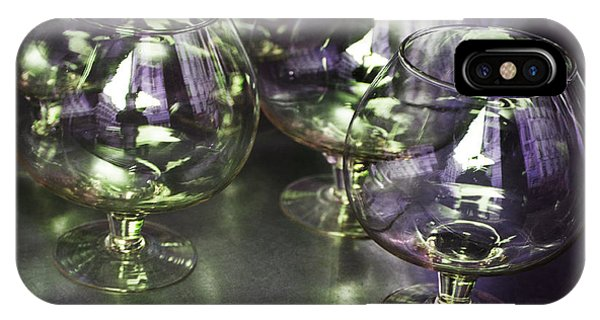 Aubergine Paris Wine Glasses IPhone Case