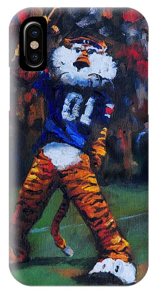 Alabama iPhone Case - Aubie Doing His Thing by Carole Foret