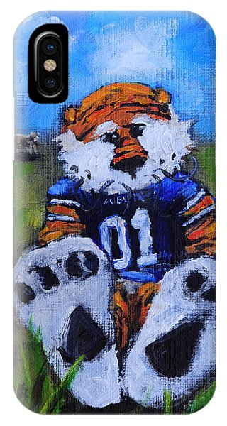 Green Fields iPhone Case - Aubie With The Cows by Carole Foret