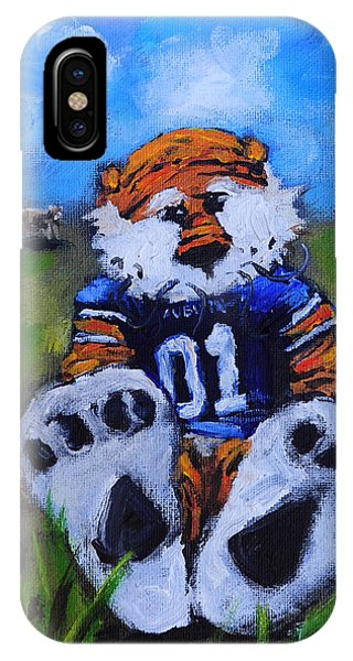 Cow iPhone X / XS Case - Aubie With The Cows by Carole Foret