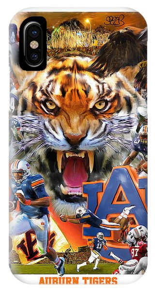 Eagle iPhone Case - Auburn Tigers by Mark Spears