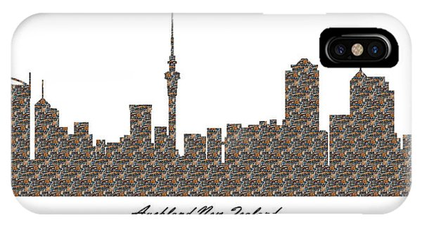 Auckland New Zealand 3d Stone Wall Skyline IPhone Case