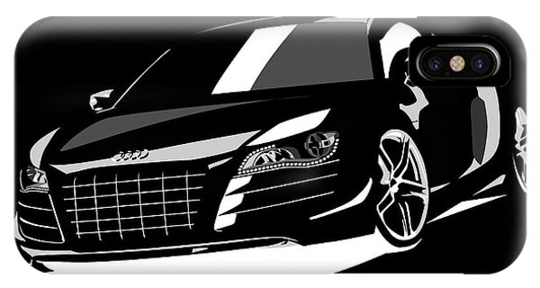 Car iPhone X Case - Audi R8 by Michael Tompsett
