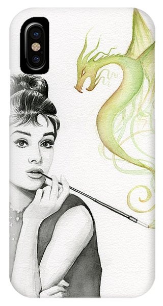 Dragon iPhone Case - Audrey And Her Magic Dragon by Olga Shvartsur