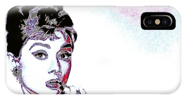 Wingsdomain iPhone Case - Audrey Hepburn 20130330 by Wingsdomain Art and Photography