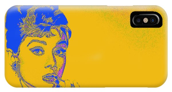 IPhone Case featuring the photograph Audrey Hepburn 20130330v2 by Wingsdomain Art and Photography