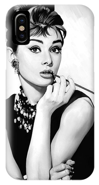 Audrey Hepburn Artwork IPhone Case