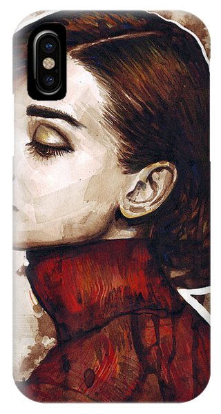 Actor iPhone Case - Audrey Hepburn by Olga Shvartsur