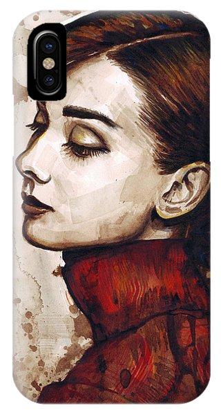 Watercolor iPhone Case - Audrey Hepburn by Olga Shvartsur