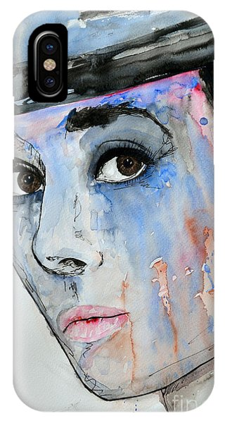 Audrey Hepburn - Painting IPhone Case