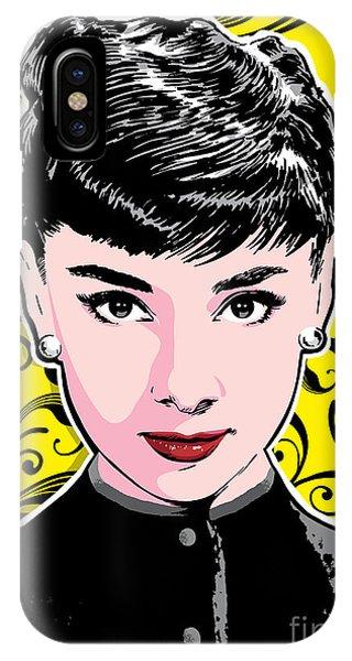 Fair iPhone Case - Audrey Hepburn Pop Art by Jim Zahniser