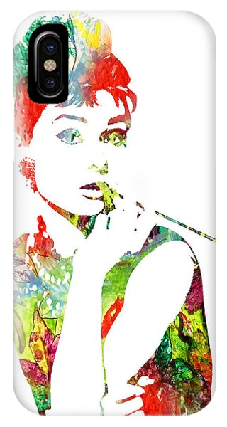 Audrey Hepburn - Watercolor IPhone Case