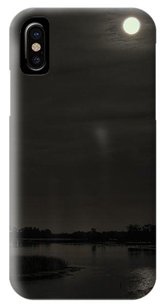 August Full Moon Over Lake Wausau IPhone Case