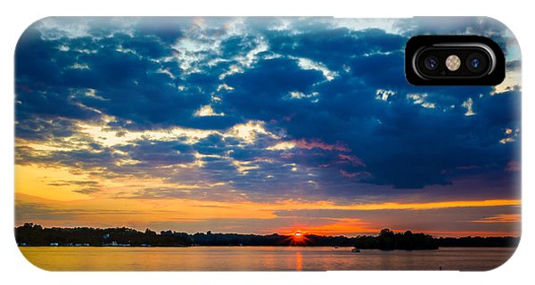 August Sunset Over Lake Nagawicka IPhone Case