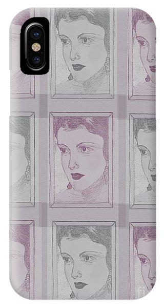 Aunt Edie Print IPhone Case