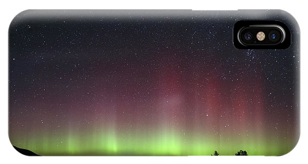 Aurora Borealis Over Glacier Np In Montana IPhone Case