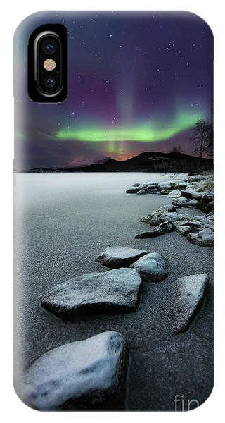 People iPhone Case - Aurora Borealis Over Sandvannet Lake by Arild Heitmann