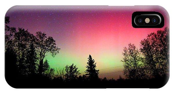 Aurora In Autumn IPhone Case