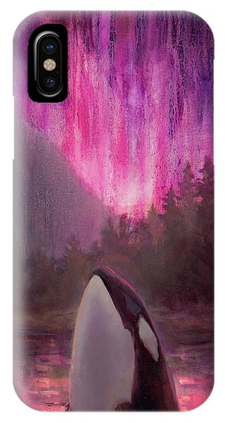 Orca Whale And Aurora Borealis - Killer Whale - Northern Lights - Seascape - Coastal Art IPhone Case