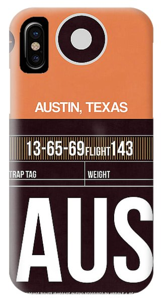 Austin iPhone Case - Austin Airport Poster 2 by Naxart Studio