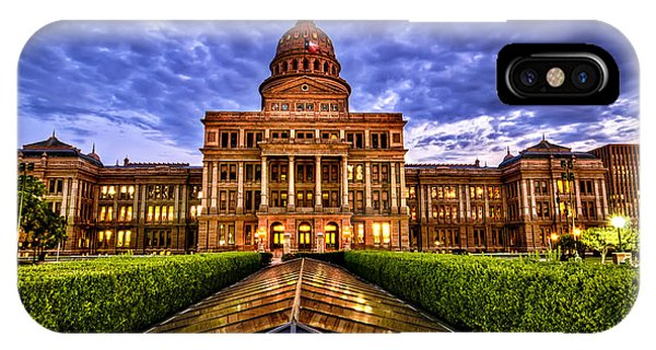 Austin Capitol At Sunset IPhone Case
