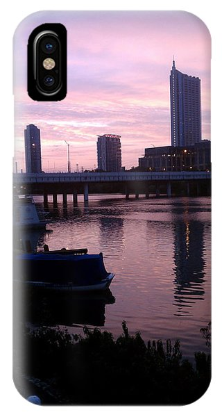 Austin Night Skyline IPhone Case