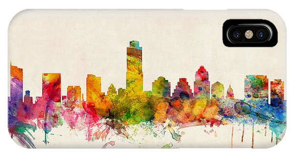 United States iPhone Case - Austin Texas Skyline by Michael Tompsett