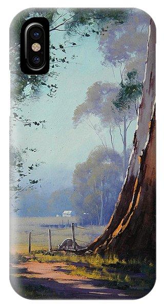 Kangaroo iPhone Case - Australian Farm Painting by Graham Gercken