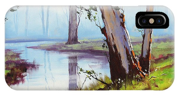 Creek iPhone Case - Australian Trees Painting by Graham Gercken